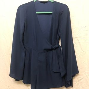 NWOT Romper with billow sleeves